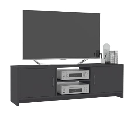 "vidaXL TV Cabinet Gray 47.2""x11.8""x14.8"" Chipboard[5/6]"