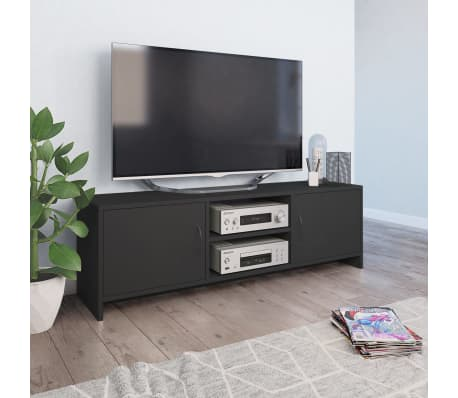 "vidaXL TV Cabinet Gray 47.2""x11.8""x14.8"" Chipboard[1/6]"