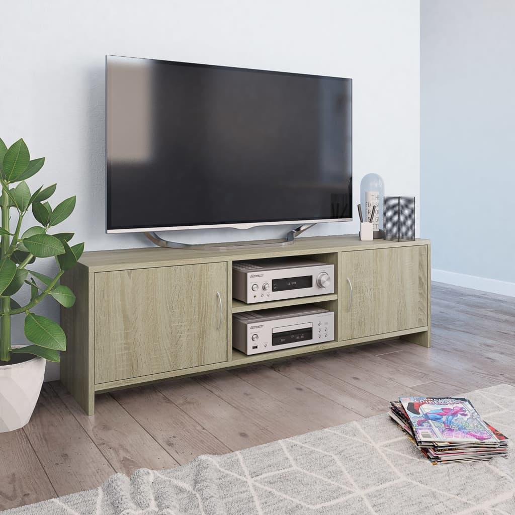 vidaXL TV stolek dub sonoma 120 x 30 x 37,5 cm dřevotříska
