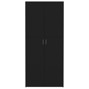 "vidaXL Shoe Cabinet Black 31.5""x14""x70.9"" Chipboard[4/8]"