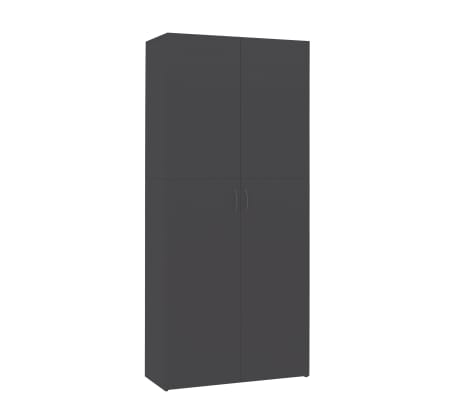 "vidaXL Shoe Cabinet Gray 31.5""x14""x70.9"" Chipboard[4/8]"