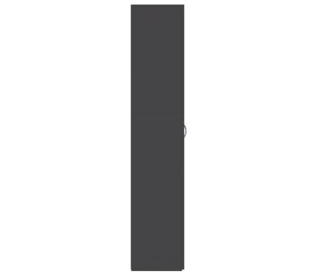 "vidaXL Shoe Cabinet Gray 31.5""x14""x70.9"" Chipboard[6/8]"