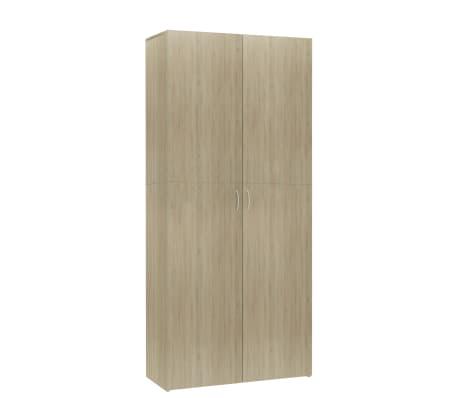 vidaXL Shoe Cabinet Sonoma Oak 80x35.5x180 cm Chipboard