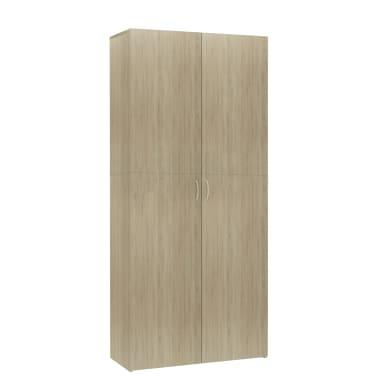 """vidaXL Shoe Cabinet Sonoma Oak 31.5""""x14""""x70.9"""" Chipboard[2/8]"""