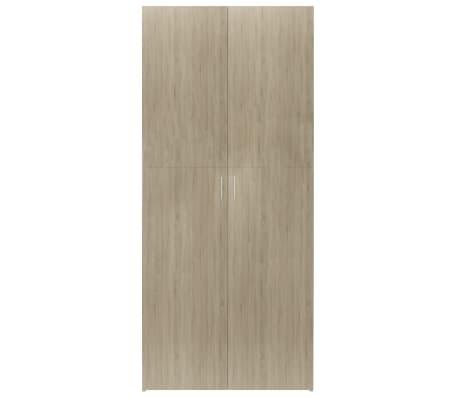 """vidaXL Shoe Cabinet Sonoma Oak 31.5""""x14""""x70.9"""" Chipboard[4/8]"""