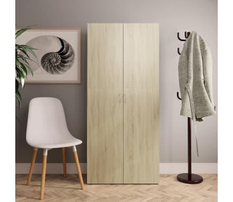 """vidaXL Shoe Cabinet Sonoma Oak 31.5""""x14""""x70.9"""" Chipboard[1/8]"""