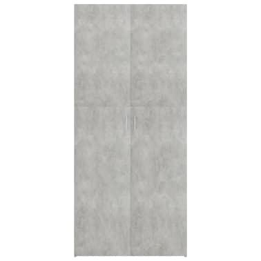 "vidaXL Shoe Cabinet Concrete Gray 31.5""x14""x70.9"" Chipboard[4/8]"