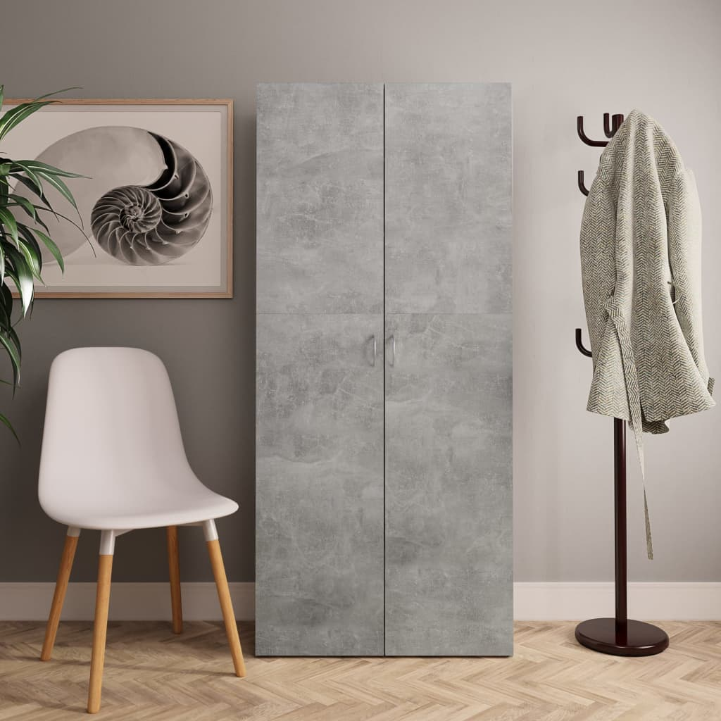 vidaXL Pantofar, gri beton, 80 x 35,5 x 180 cm, PAL vidaxl.ro