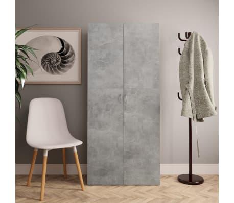 "vidaXL Shoe Cabinet Concrete Gray 31.5""x14""x70.9"" Chipboard[1/8]"