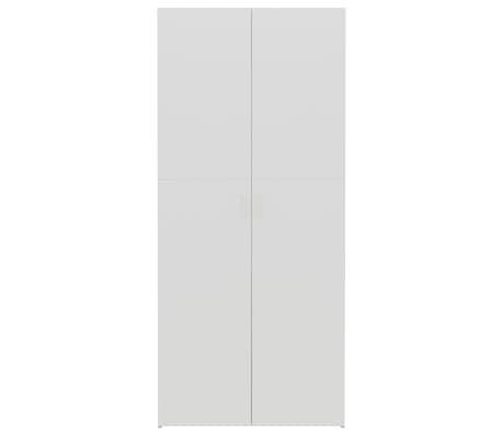 "vidaXL Shoe Cabinet White and Sonoma Oak 31.5""x14""x70.9"" Chipboard[4/8]"