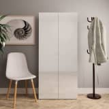 vidaXL Shoe Cabinet High Gloss White 80x35.5x180 cm Chipboard