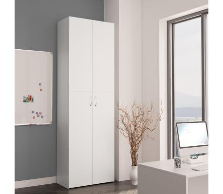"vidaXL Office Cabinet White 23.6""x12.6""x74.8"" Chipboard[3/8]"
