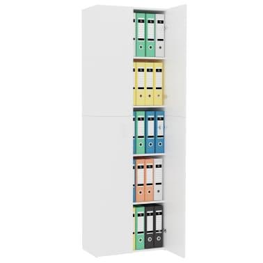 "vidaXL Office Cabinet White 23.6""x12.6""x74.8"" Chipboard[4/8]"