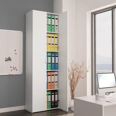 "vidaXL Office Cabinet White 23.6""x12.6""x74.8"" Chipboard[1/8]"
