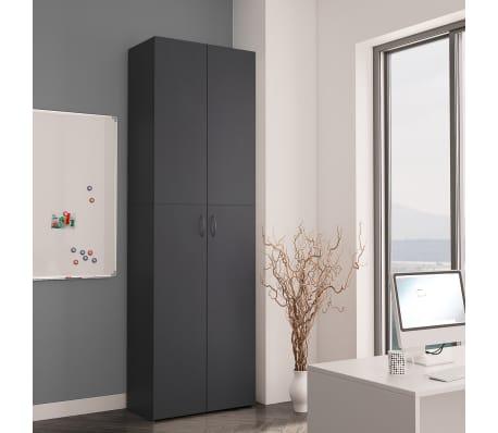 "vidaXL Office Cabinet Gray 23.6""x12.6""x74.8"" Chipboard[3/8]"