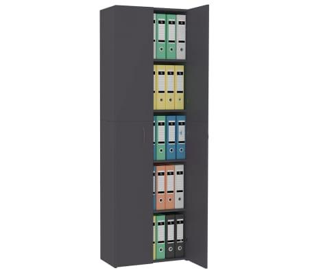 "vidaXL Office Cabinet Gray 23.6""x12.6""x74.8"" Chipboard[4/8]"