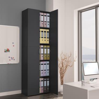 "vidaXL Office Cabinet Gray 23.6""x12.6""x74.8"" Chipboard[1/8]"