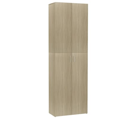 vidaXL Office Cabinet Sonoma Oak 60x32x190 cm Chipboard