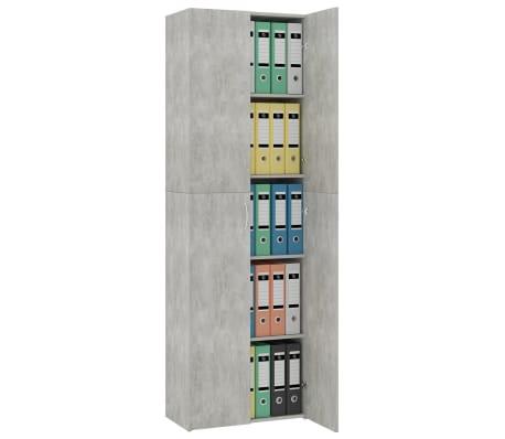 vidaXL Armoire de bureau Gris cement 60x32x190 cm Aggloméré[4/8]