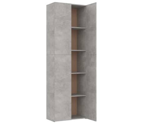 vidaXL Armoire de bureau Gris cement 60x32x190 cm Aggloméré[5/8]
