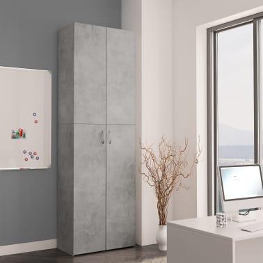 vidaXL Armoire de bureau Gris cement 60x32x190 cm Aggloméré[3/8]