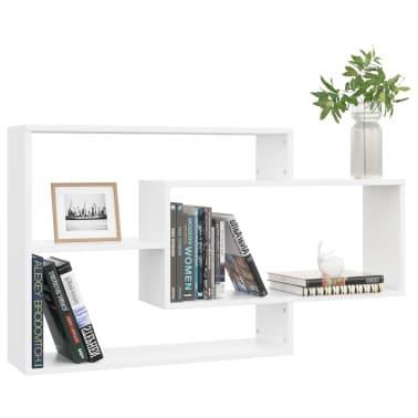 "vidaXL Wall Shelves White 40.9""x9.4""x23.6"" Chipboard[3/6]"
