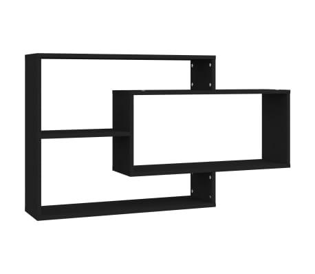 "vidaXL Wall Shelves Black 40.9""x9.4""x23.6"" Chipboard[2/6]"
