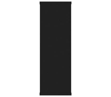"vidaXL Wall Shelves Black 40.9""x9.4""x23.6"" Chipboard[5/6]"
