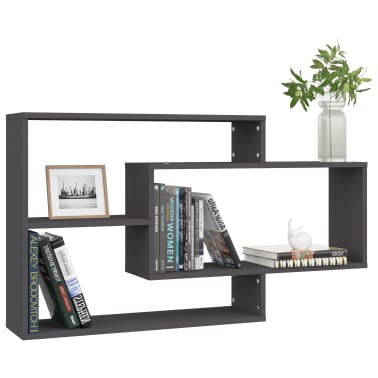 "vidaXL Wall Shelves Gray 40.9""x9.4""x23.6"" Chipboard[3/6]"