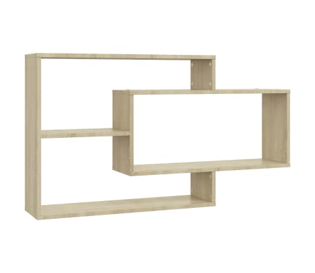 "vidaXL Wall Shelves Sonoma Oak 40.9""x9.4""x23.6"" Chipboard[2/6]"