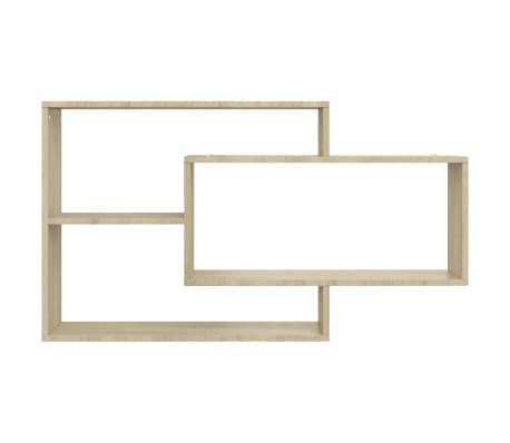 "vidaXL Wall Shelves Sonoma Oak 40.9""x9.4""x23.6"" Chipboard[4/6]"