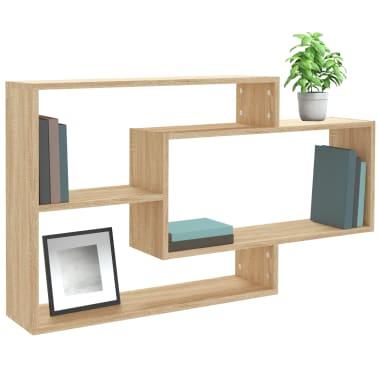 "vidaXL Wall Shelves Sonoma Oak 40.9""x9.4""x23.6"" Chipboard[3/6]"