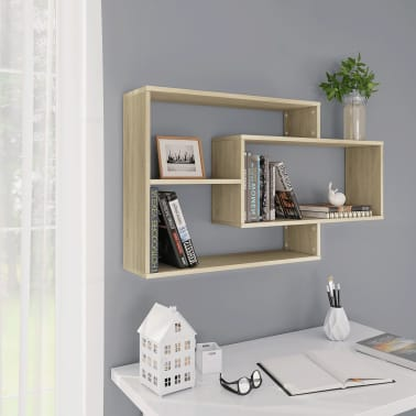 "vidaXL Wall Shelves Sonoma Oak 40.9""x9.4""x23.6"" Chipboard[1/6]"