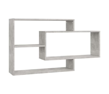 "vidaXL Wall Shelves Concrete Gray 40.9""x9.4""x23.6"" Chipboard[2/6]"