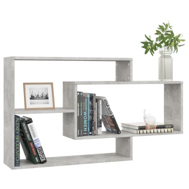 "vidaXL Wall Shelves Concrete Gray 40.9""x9.4""x23.6"" Chipboard[3/6]"