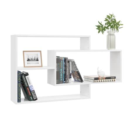 vidaXL Estantes de pared de aglomerado blanco brillante 104x20x60 cm