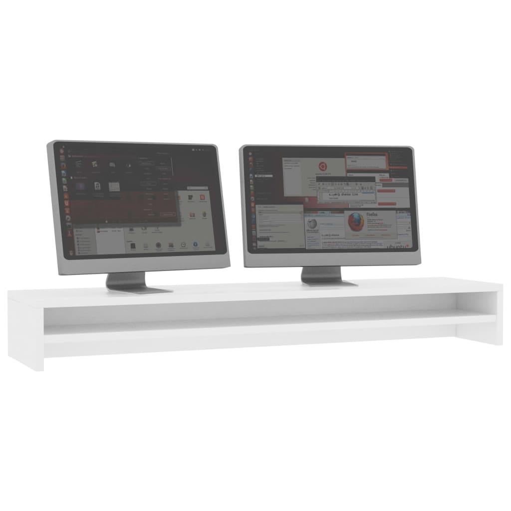 Foto van vidaXL Monitorstandaard 100x24x13 cm spaanplaat wit