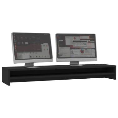 vidaXL Monitoriaus stovas, juodos spalvos, 100x24x13 cm, MDP[3/6]