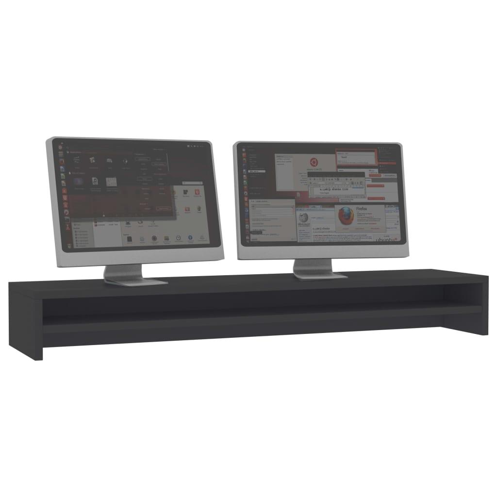 Foto van vidaXL Monitorstandaard 100x24x13 cm spaanplaat grijs