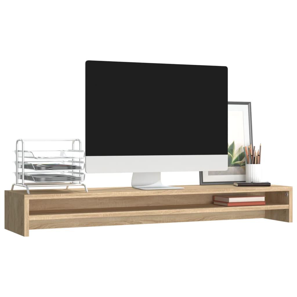 Foto van vidaXL Monitorstandaard 100x24x13 cm spaanplaat sonoma eikenkleurig
