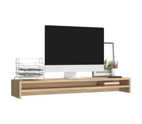 vidaXL Monitoriaus stovas, sonoma ąžuolo spalvos, 100x24x13cm, MDP[3/6]