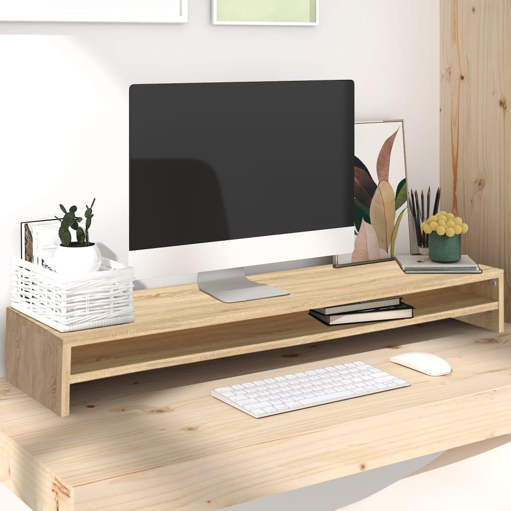 Stojan na monitor dub sonoma 100 x 24 x 13 cm dřevotříska