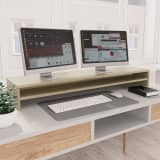 vidaXL Monitorstandaard 100x24x13 cm spaanplaat sonoma eikenkleurig
