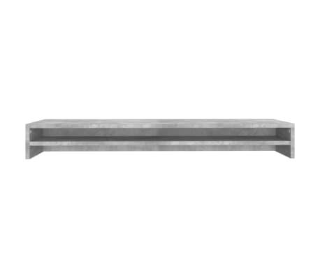 vidaXL Monitoriaus stovas, betono pilkos spalvos, 100x24x13cm, MDP[4/6]