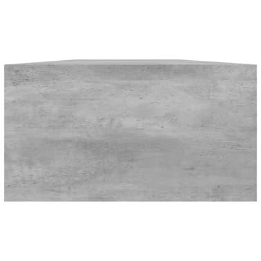 vidaXL Monitoriaus stovas, betono pilkos spalvos, 100x24x13cm, MDP[5/6]