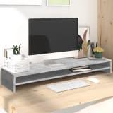 vidaXL Monitor Stand Concrete Grey 100x24x13 cm Chipboard