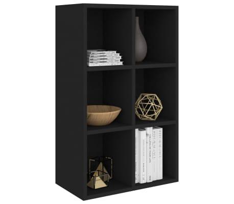 "vidaXL Book Cabinet/Sideboard Black 19.6""x9.8""x31.4"" Chipboard[3/12]"