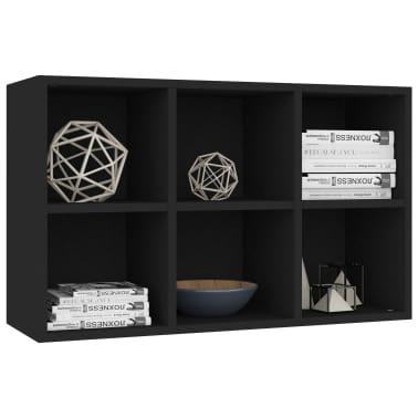 "vidaXL Book Cabinet/Sideboard Black 19.6""x9.8""x31.4"" Chipboard[5/12]"