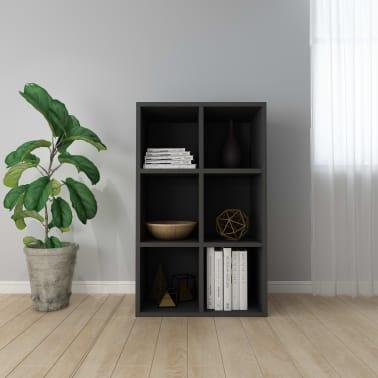 "vidaXL Book Cabinet/Sideboard Black 19.6""x9.8""x31.4"" Chipboard[1/12]"
