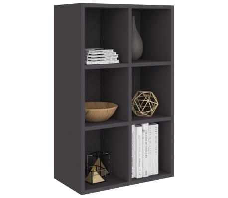 "vidaXL Book Cabinet/Sideboard Gray 19.6""x9.8""x31.4"" Chipboard[3/12]"